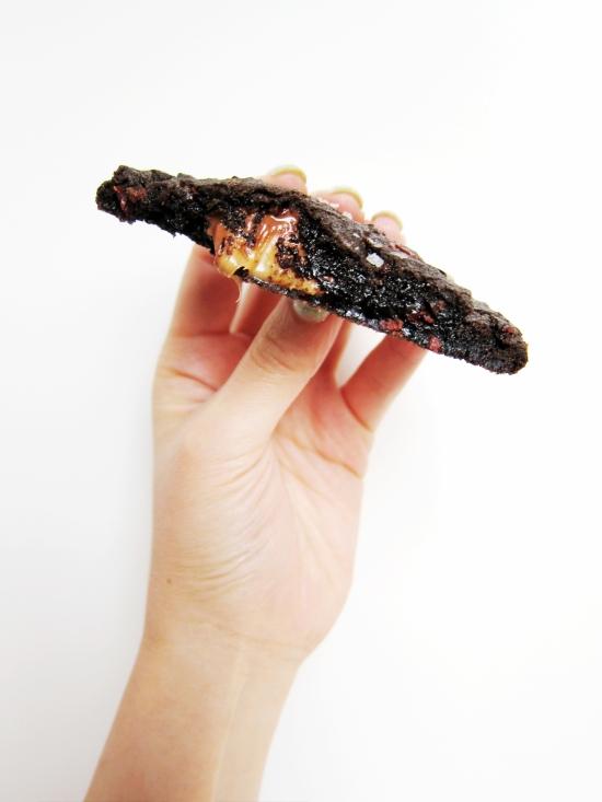 Salted Dark Chocolate Caramel Cookies 5