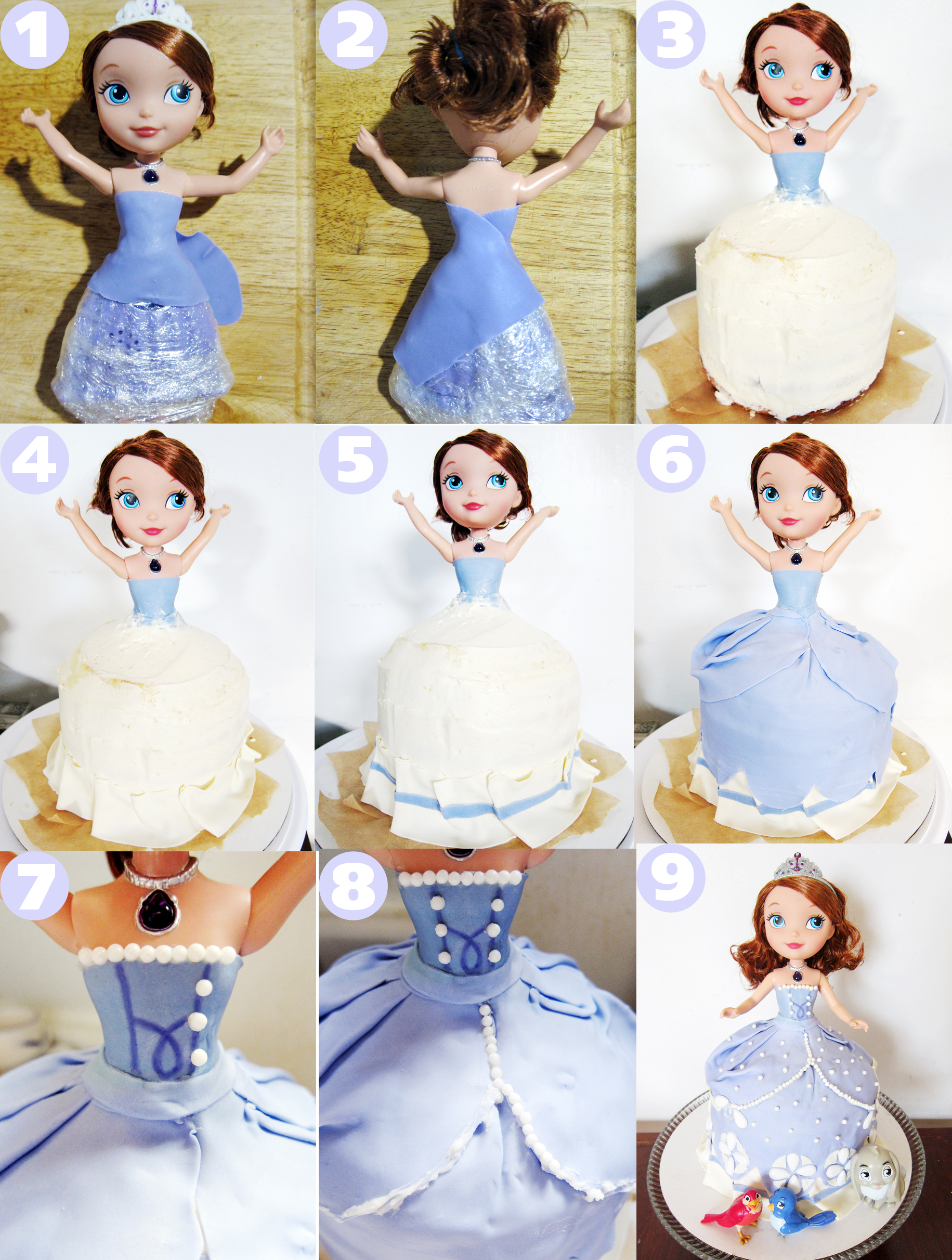 Sofia The First Doll Cake Tutorial