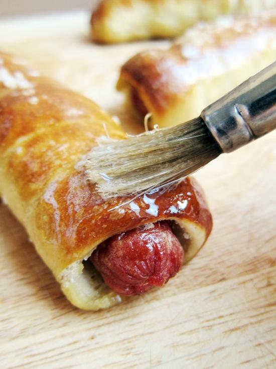 Pretzel Hot Dogs 3