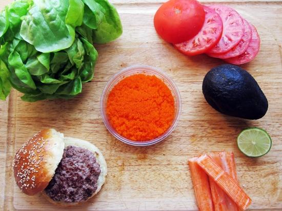 The Krabby Patty (California Roll Burger) | The Busy Spatula