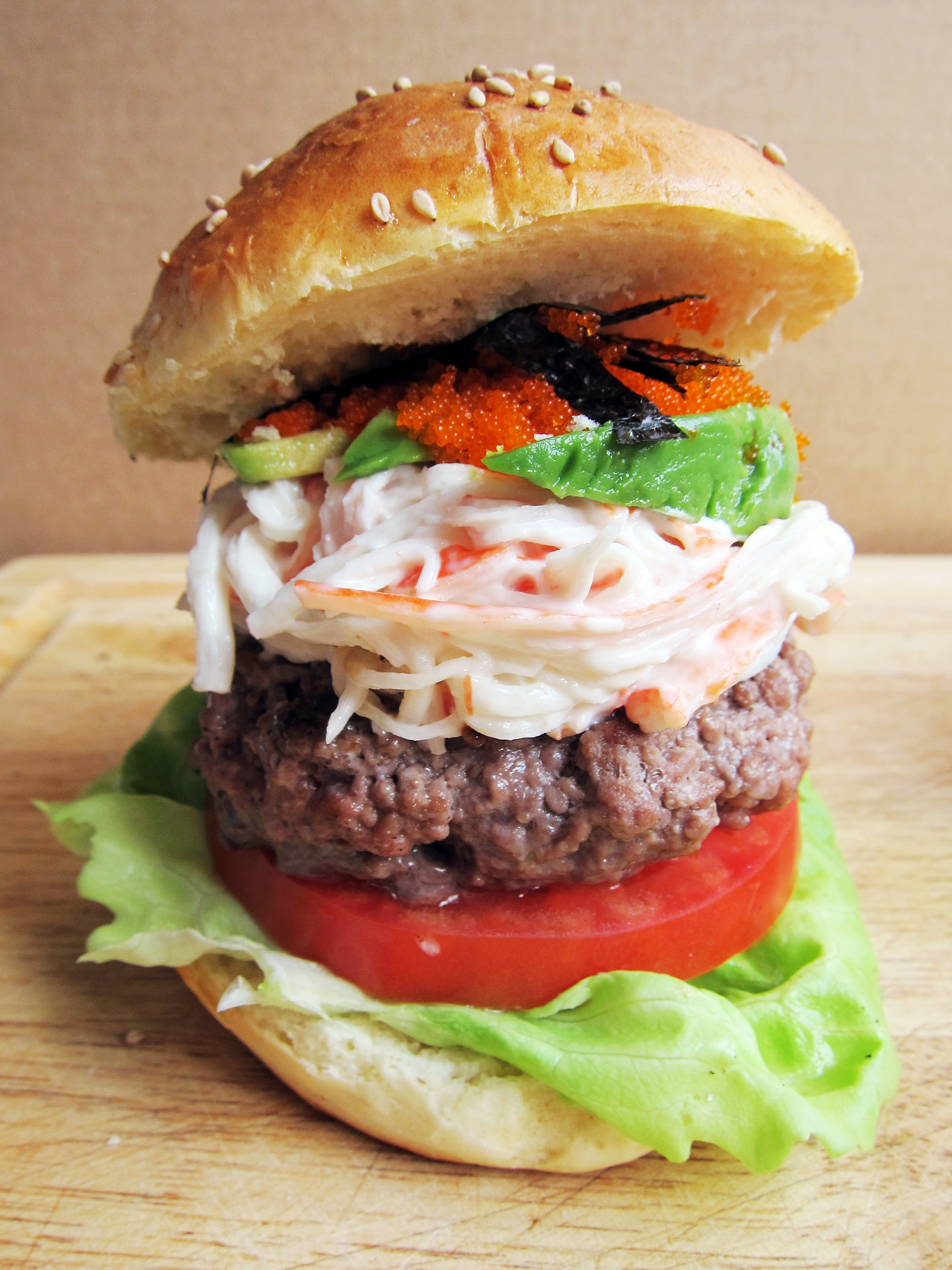 The Krabby Patty (California Roll Burger) | The Busy Spatula