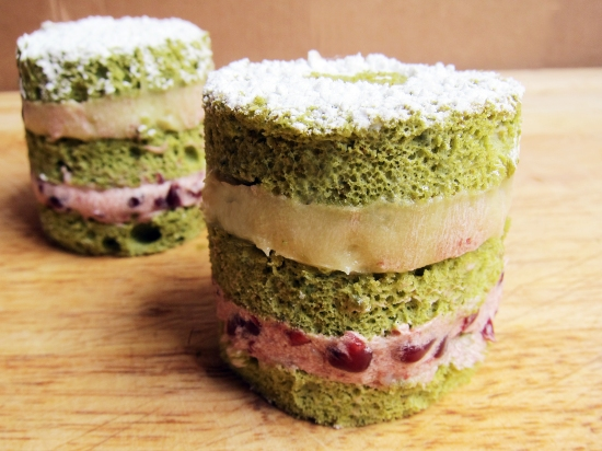 Mini Green Tea Cakes 1
