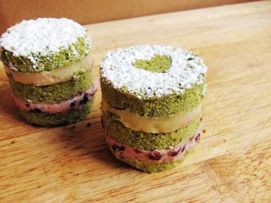 Mini Green Tea Cakes 4