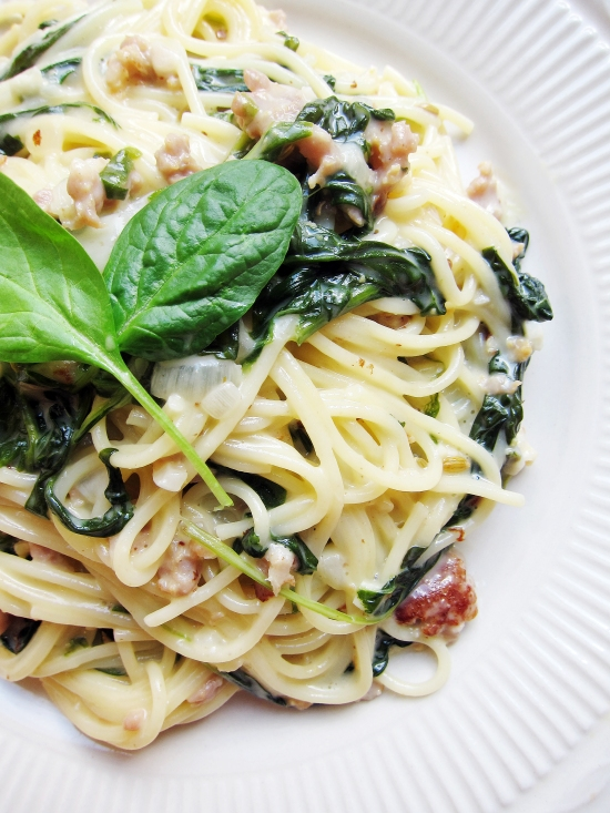 Sausage and Spinach Pasta 4