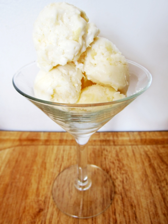 Pineapple Coconut Frozen Yogurt 2