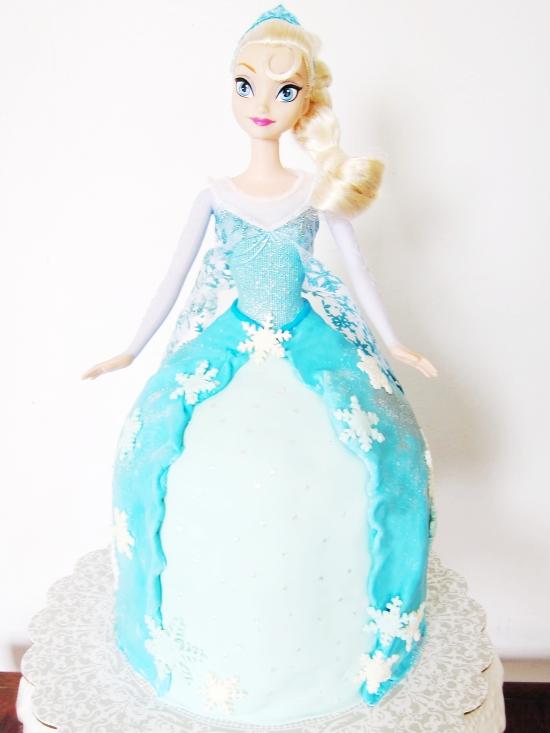 Elsa Doll Cake 1