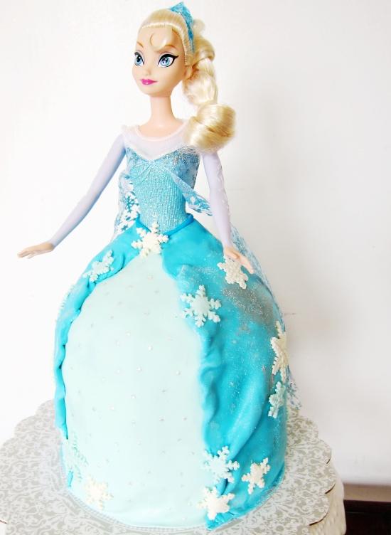 Elsa Doll Cake 4