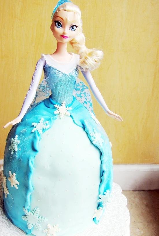 Elsa Doll Cake 2