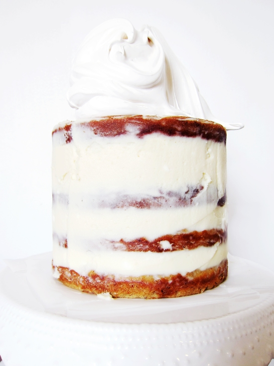 Toasted Marshmallow Caramel Banana Cake with Cheesecake Frosting 6