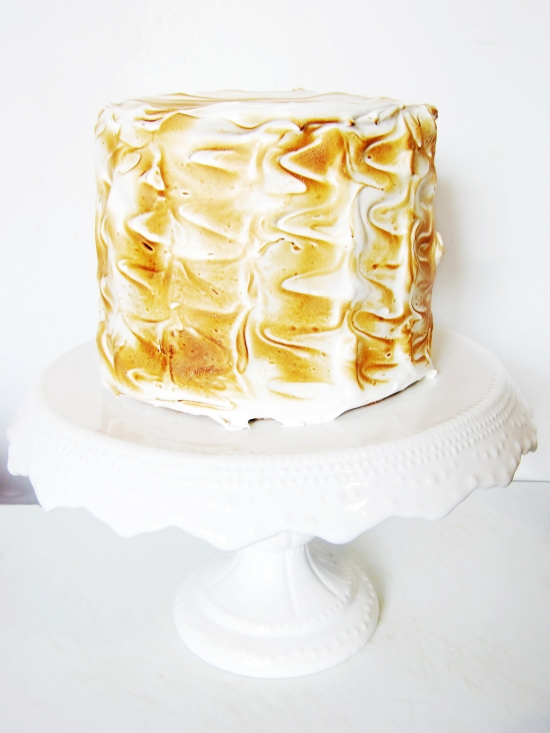 Toasted Marshmallow Caramel Banana Cake with Cheesecake Frosting 5
