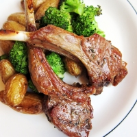 Broiled Lamb Chops with Roasted Potatoes and Broccoli {Simple Sundays}