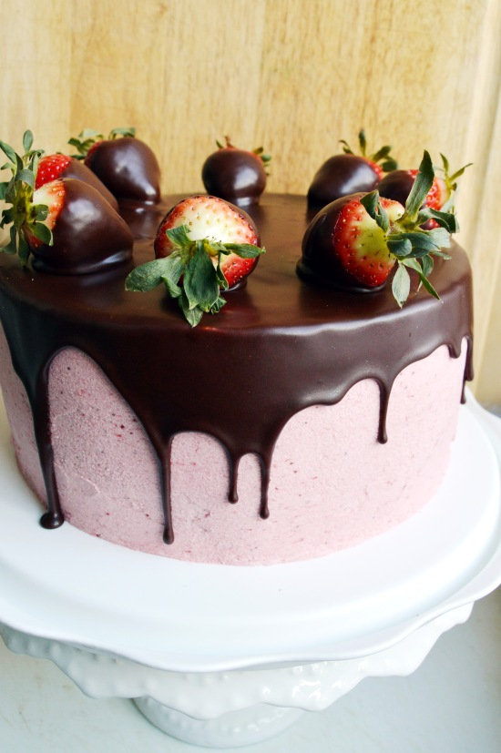 Chocolate Covered Strawberry Cake  4