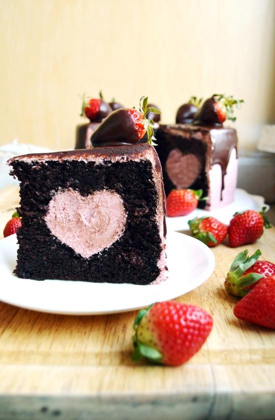 Chocolate Covered Strawberry Cake  3