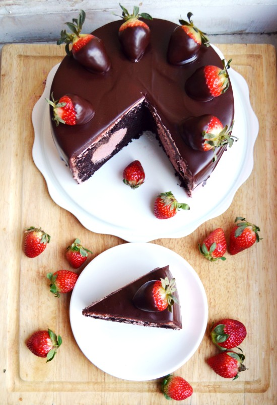 Chocolate Covered Strawberry Cake  2