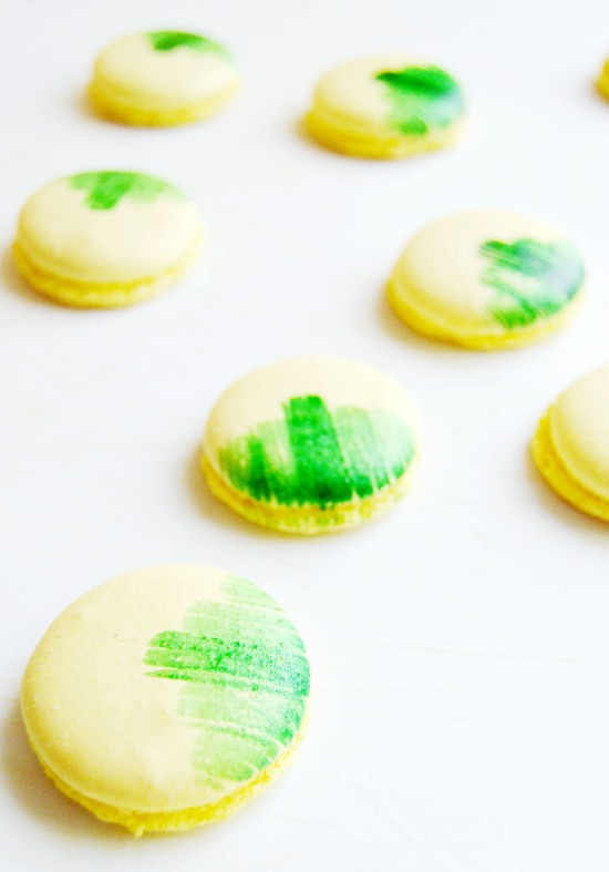 Lemon Basil Macarons 6