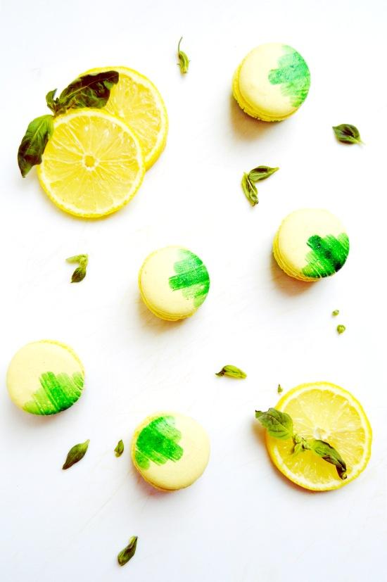 Lemon Basil Macarons 4