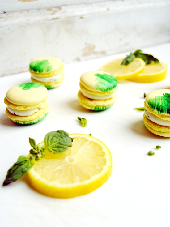 Lemon Basil Macarons 3