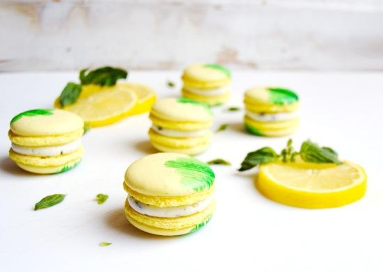Lemon Basil Macarons 2