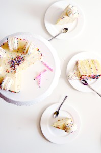 Funfetti Cake Batter Cake and Macarons 4
