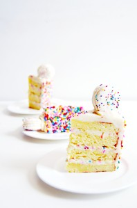 Funfetti Cake Batter Cake and Macarons 6