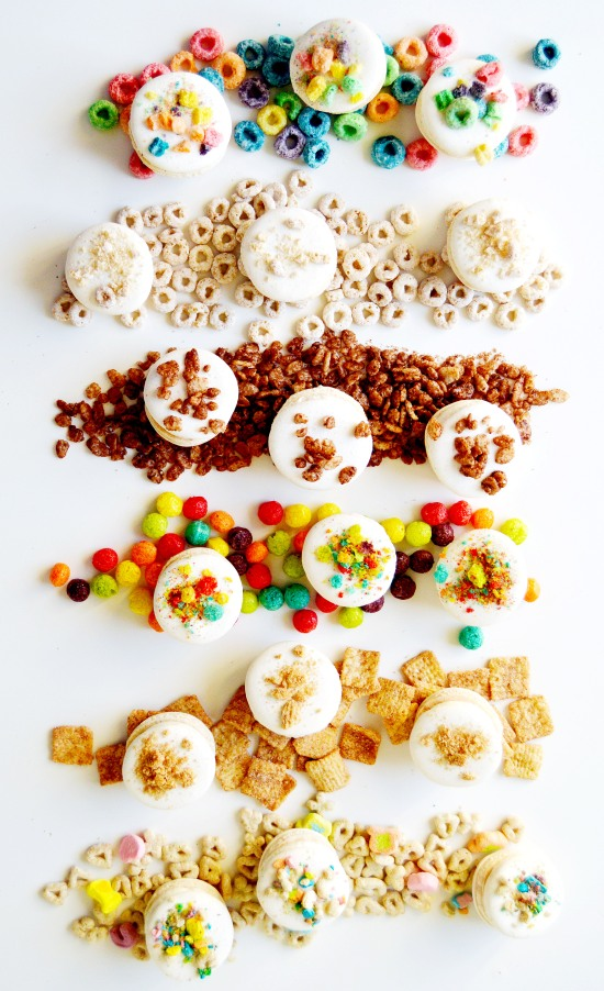Cereal Macarons with Cereal Milk Frosting 3