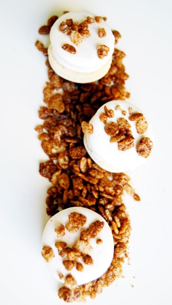 cocoa pebbles macaron