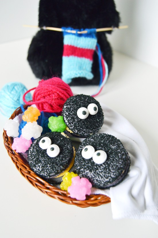 soot sprite macarons