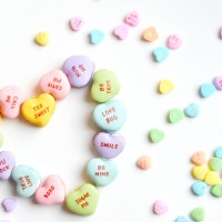Conversation Heart Macarons with Vanilla Elderflower Frosting