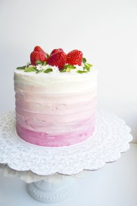 Strawberry Ombré Cake