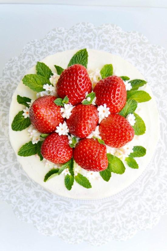 Strawberry Mint Cake