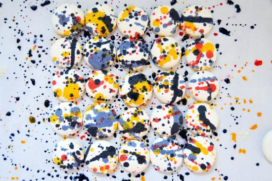 Jackson Pollock Macarons