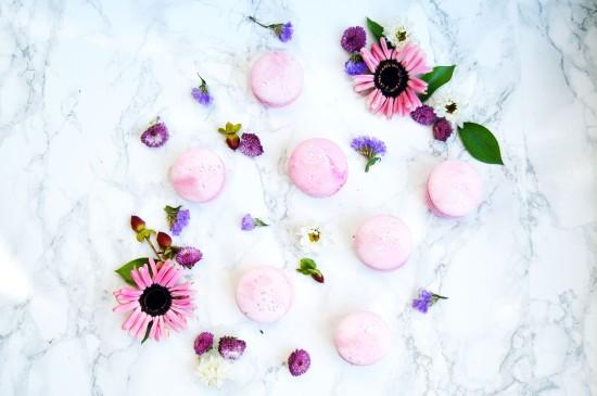 Raspberry Rosé Macarons