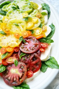 Rainbow Caprese Salad with Spicy Balsamic Glaze