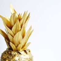 Gold Pineapple Cake with (Real) Pineapple Buttercream