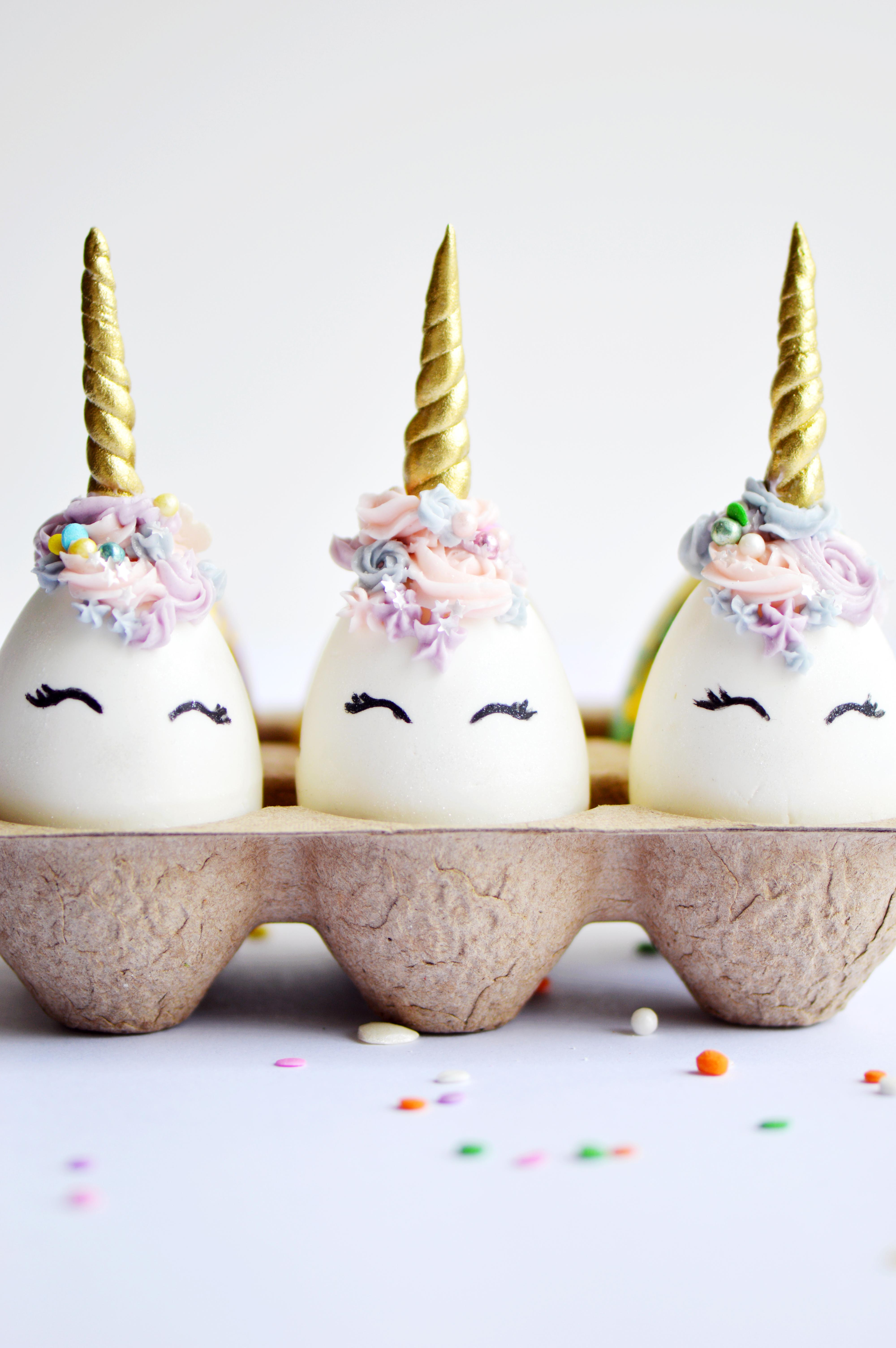Chocolate Unicorn Easter Eggs The Busy Spatula